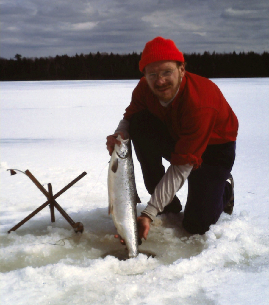 March madness late season ice fishing in maine for Fishing near me lake