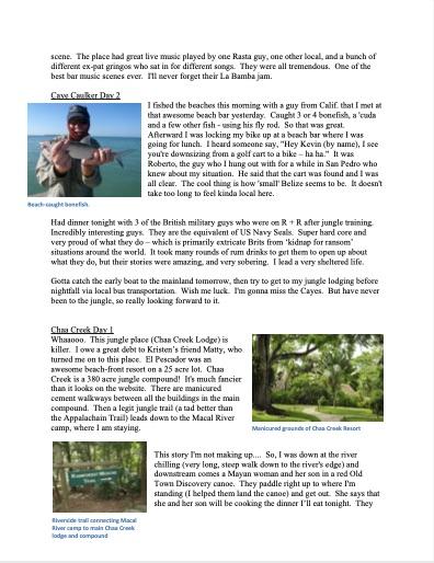 Belize Blog